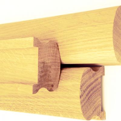 Поручень сращенный (сосна) 2с, длина 2,2-4,0 м, размеры 40х65 мм для деревянных лестниц
