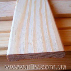 Притворная планка (<b>сосна</b>) 1с, длина 1,5-3,0 м, размеры 10х30,10х40 мм