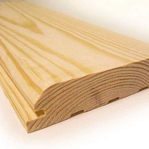 Фальш брус (<b>сосна</b>) 1с, длина 4,0-4,5 м, размеры 20х130 мм