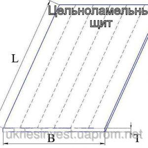 Массив цельноламельный (<b>сосна</b>) 1с, размеры 40х600 мм