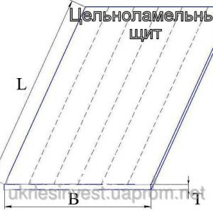 Массив цельноламельный (<b>сосна</b>) 2с, размеры 40х600 мм