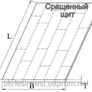 Массив сращенный (<b>сосна</b>) 1с, размеры 40 мм