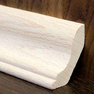Потолочный плинтус (галтель)  (<b>сосна, ясень</b>), 2с, длина 1,5-3,0 м, размеры 21х21 мм