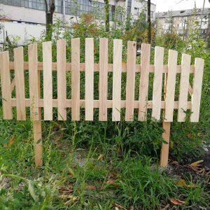 Заборчик садовый деревянный (хвоя) размер 500х1200 мм.